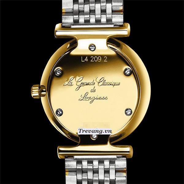 Đồng hồ Longines nữ L4.209.2.11.7 thiết kế mặt sau