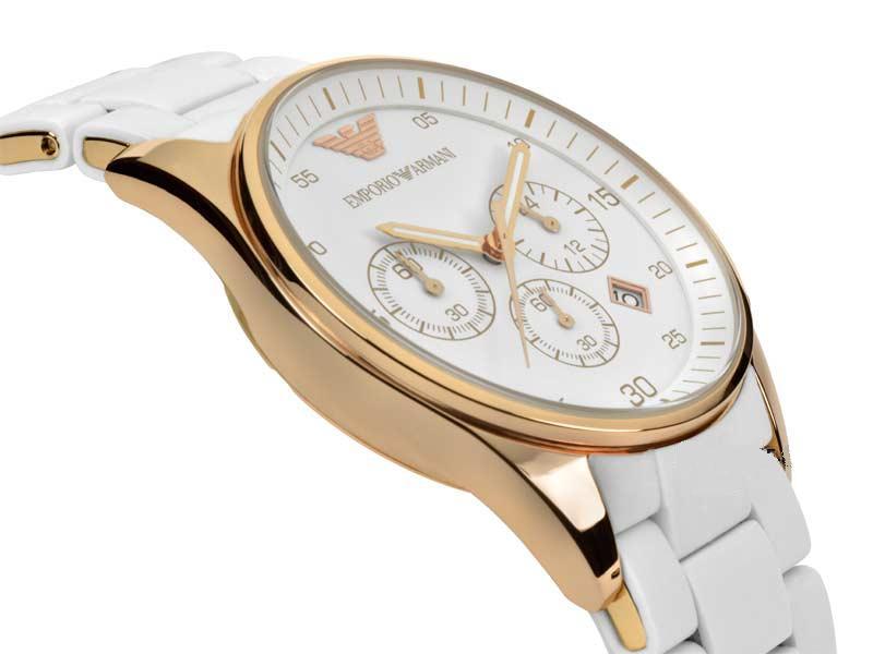 Đồng hồ nam Armani AR5919 mặt trắng sang trọn