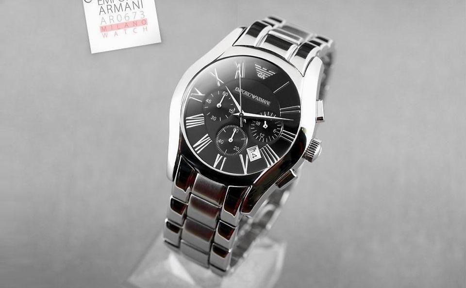 Đồng hồ nam Armani AR0673 mặt đen