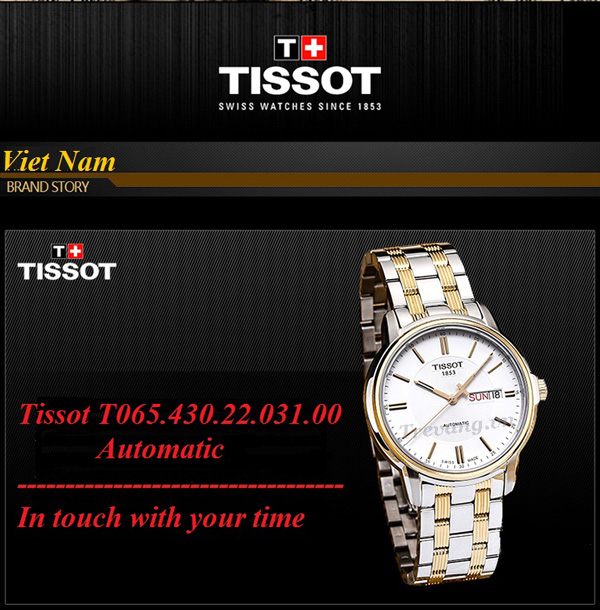 Đồng hồ Tissot T065.430.22.031.00 nam Automatic