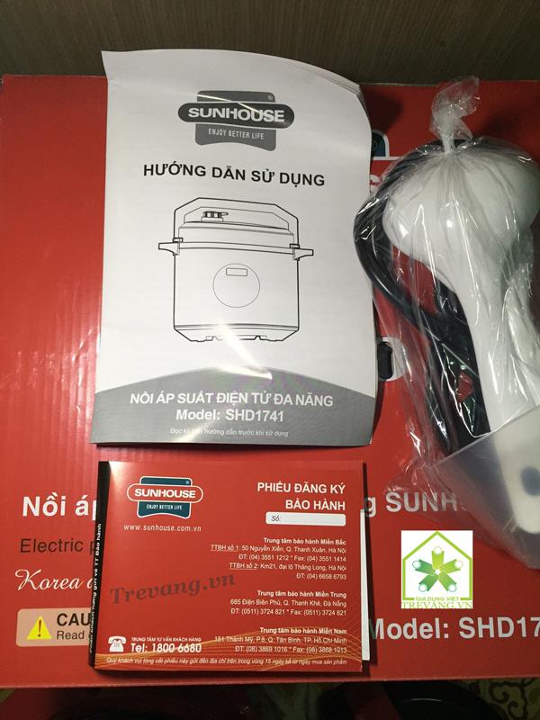 Nồi áp suất điện Sunhouse SHD1741 thẻ bảo hành