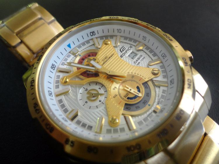 Đồng hồ Casio nam EFR-523FG-7A mặt kính sapphire