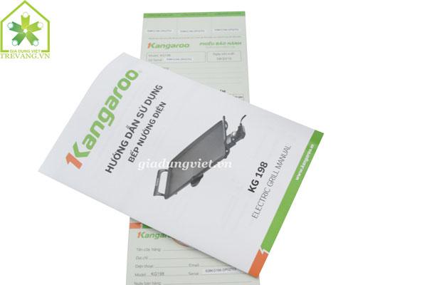 Bếp nướng điện không khói Kangaroo KG198 sách hướng dẫn