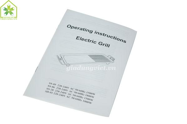 Bếp nướng điện không khói Osaka OS-05 sách hướng dẫn