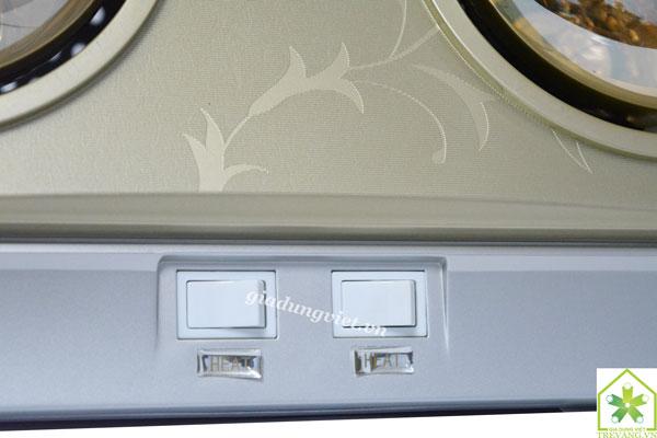Đèn sưởi nhà tắm Braun KN02G 2 công tắc