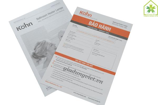 Đèn sưởi nhà tắm Braun KN02G bảo hành