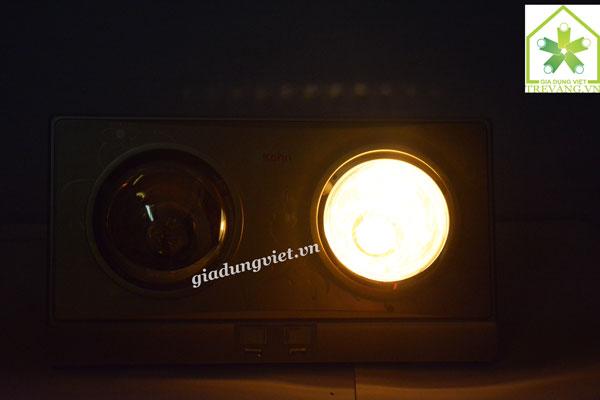 Đèn sưởi nhà tắm Braun KN02G bật 1 bóng