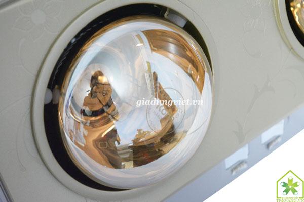 Đèn sưởi nhà tắm Braun KN02G bóng thuỷ tinh