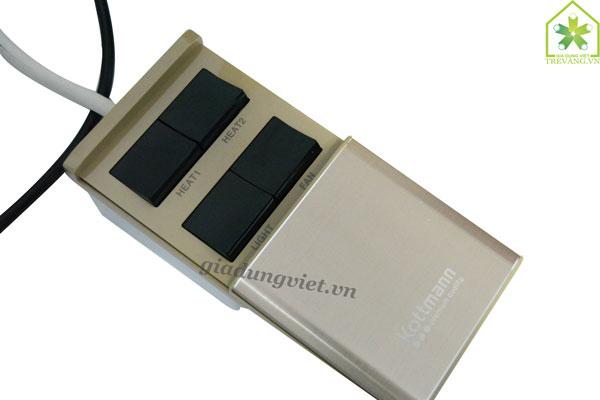 Đèn sưởi nhà tắm Kottmann K4B-T công tắc điều khiển