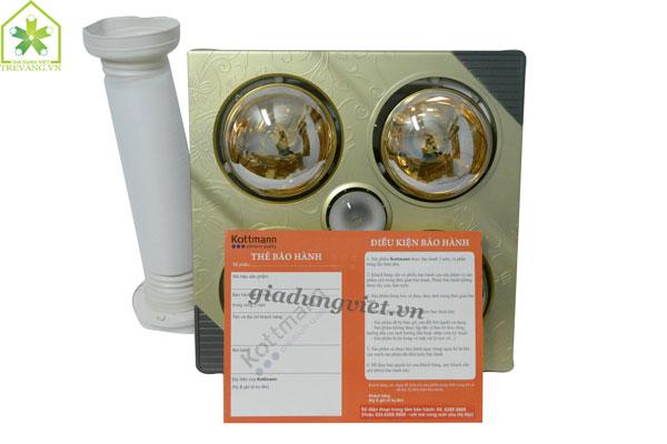 Đèn sưởi nhà tắm Kottmann K4B-T xuất xứ Đức