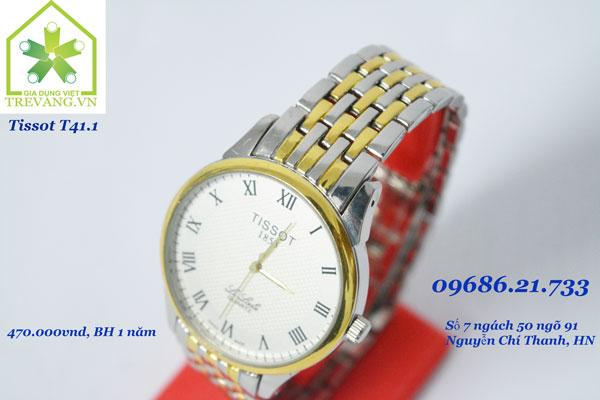 Đồng hồ Tissot nam T41.1 Le Locle trắng Quartz