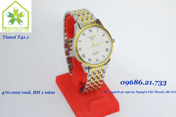 Đồng hồ Tissot nam T41.1 Le Locle trắng Thuỵ Sỹ