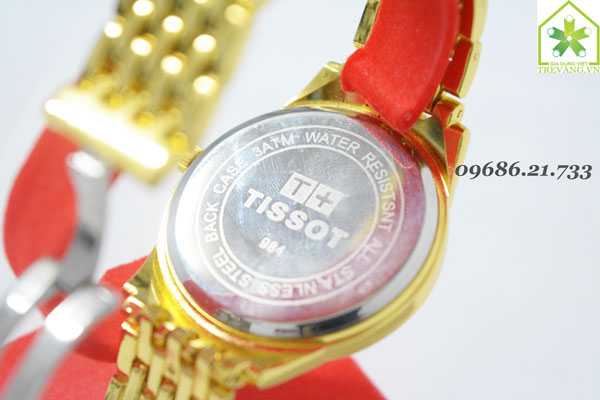Đồng hồ Tissot nam T41.3 Gold mặt sau