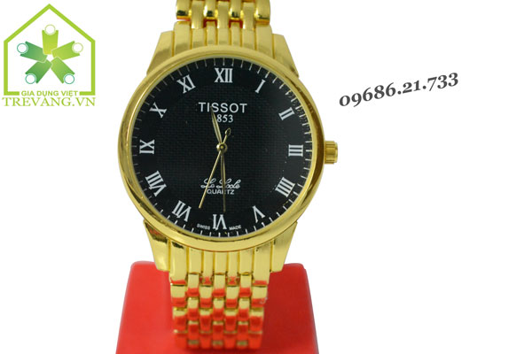 Đồng hồ Tissot nam T41.3 Gold mặt đen