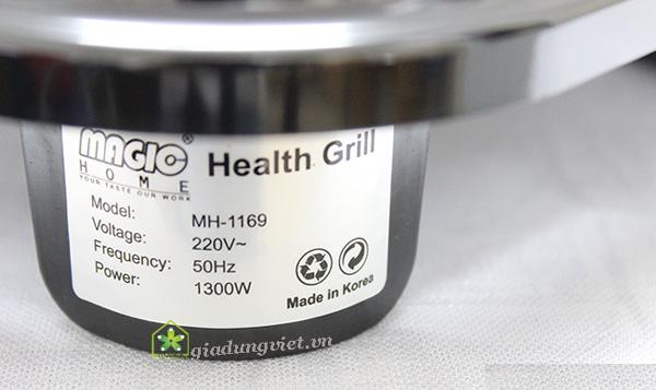 Bếp nướng điện không khói Magic Home MH-1169 chân bếp