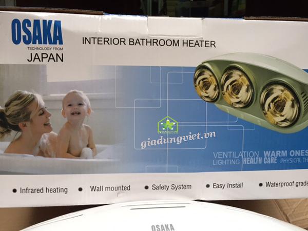 Đèn sưởi nhà tắm Osaka 2 bóng vỏ hộp