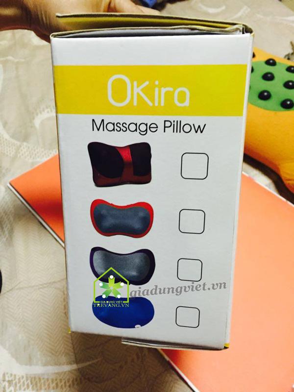 Gối massage hồng ngoại Okira OK-168 cao cấp