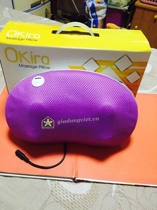 Gối massage hồng ngoại Okira OK-168