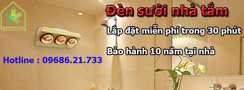 Bảo hành đèn sưởi nhà tắm 10 năm GDV