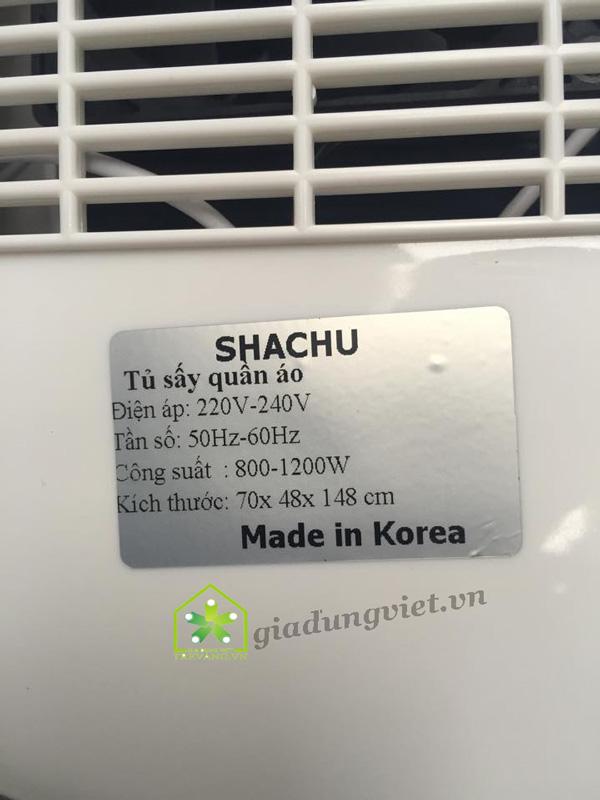 Tủ sấy quần áo Shachu SH168 Korea