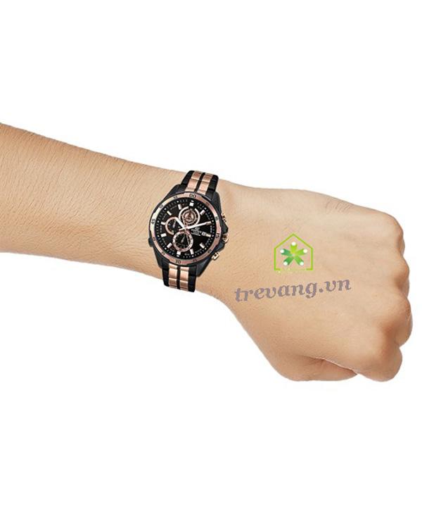 Đồng hồ Casio nam EFR-547BKG-1A trên tay