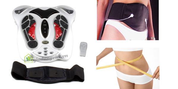 Máy massage chân Shachu SH-199 tặng kèm đai giảm béo