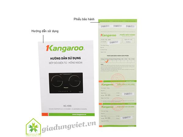 Bếp điện đôi Kangaroo KG499i 1 từ 1 hồng ngoại cao cấp