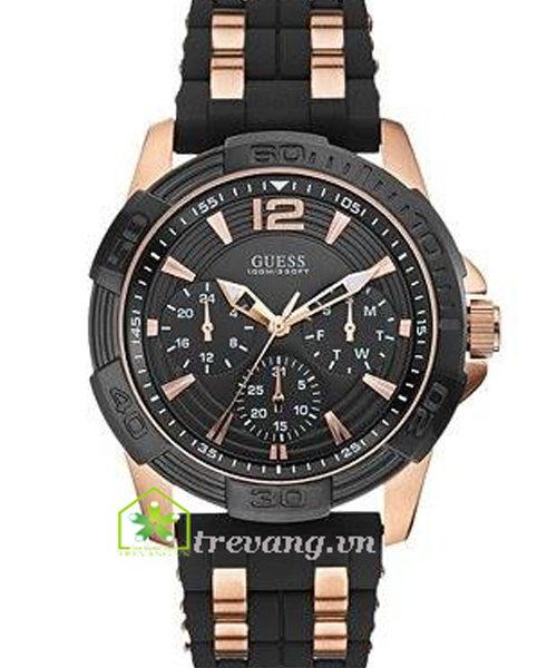 Đồng hồ Guess W0366G3 nam mặt đen