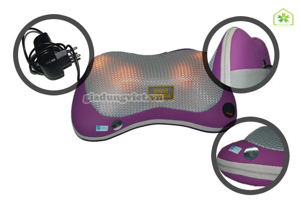 Gối massage hồng ngoại Yokushi YK 168 Pin-sạc điện