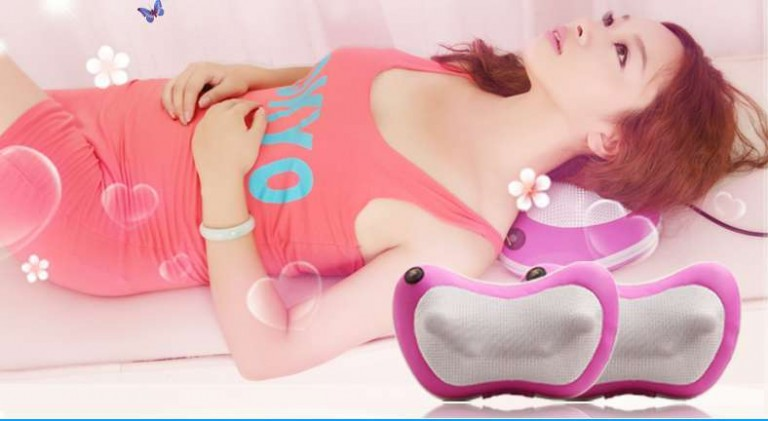 gối massage hồng ngoại loại tốt Japan