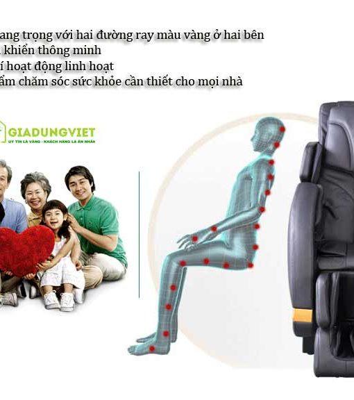 Ghế massage toàn thân SHIKA 3D 8905 toàn thân