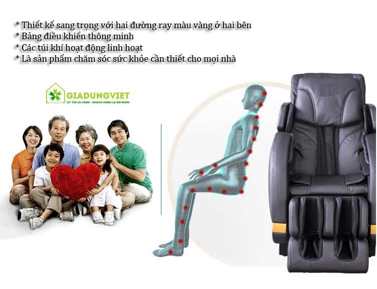ghế massage toàn thân takasima hiện đại