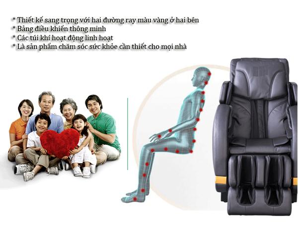 Ghế massage toàn thân Shika 3D SK8902 điều chỉnh tư thế