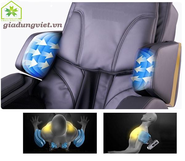 Ghế massage toàn thân Shika 3D SK8902 túi khí vùng tay