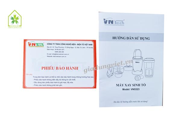 Máy xay sinh tố Vntech VN5323 hướng dẫn sử dụng