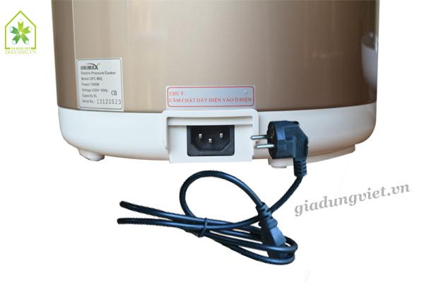 Nồi áp suất Unimax UPC-M62 ổ cắm