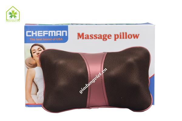Gối massage hồng ngoại Magic 8181 trọn bộ