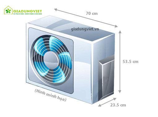Điều hòa Midea MS11D1-12HR công suất 12.000 BTU dàn nóng