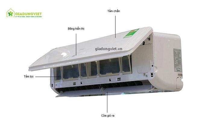 Điều hòa Midea MS11D1-12HR công suất 12.000 BTU chi tiết