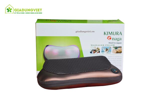 Gối massage hồng ngoại Kimura Onaga nhỏ gọn