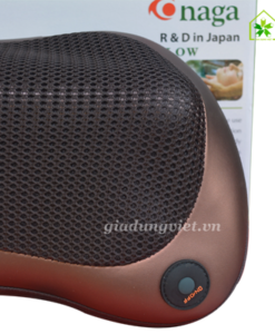 Gối massage hồng ngoại Kimura Onaga nút bấm