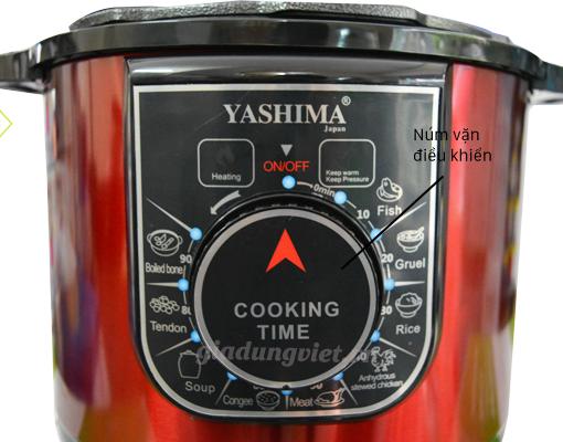 Nồi áp suất đa năng Yashima KL-788 núm điều chỉnhNồi áp suất đa năng Yashima KL-788 núm điều chỉnh