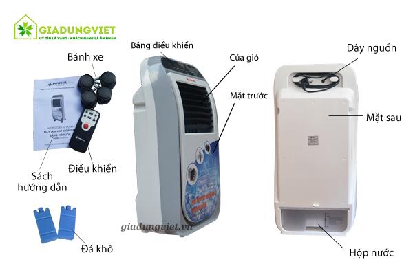 Quạt hơi nước Hanel HN-AC100S chi tiết