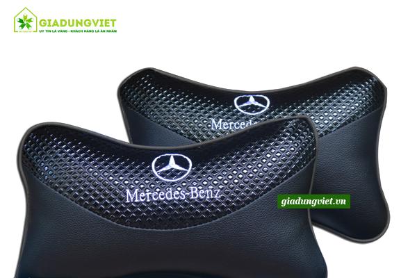 Gối tựa đầu ô tô logo Mercedes-Benz