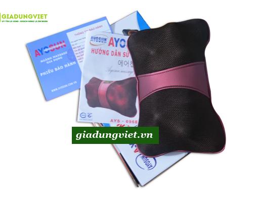 Gối massage hồng ngoại AYOSUN AYS-696E+ chính hãng