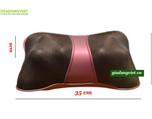 Gối massage hồng ngoại AYOSUN AYS-696E+ kích thước