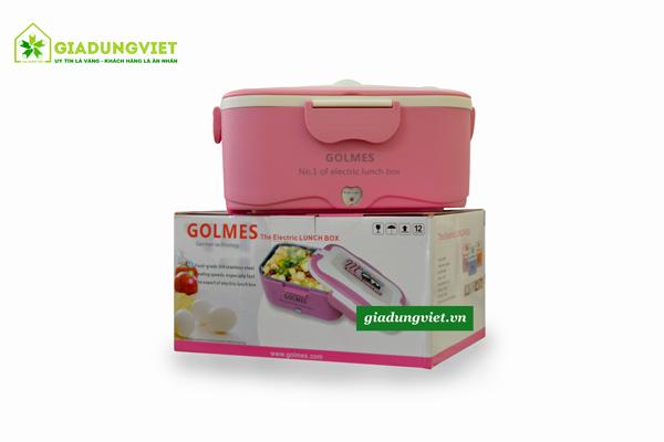 Hộp cơm hâm nóng Golmes GM01 màu hồng