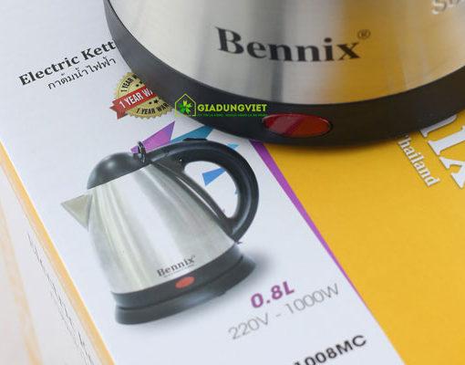 Ấm siêu tốc Bennix 0,8L báo điện