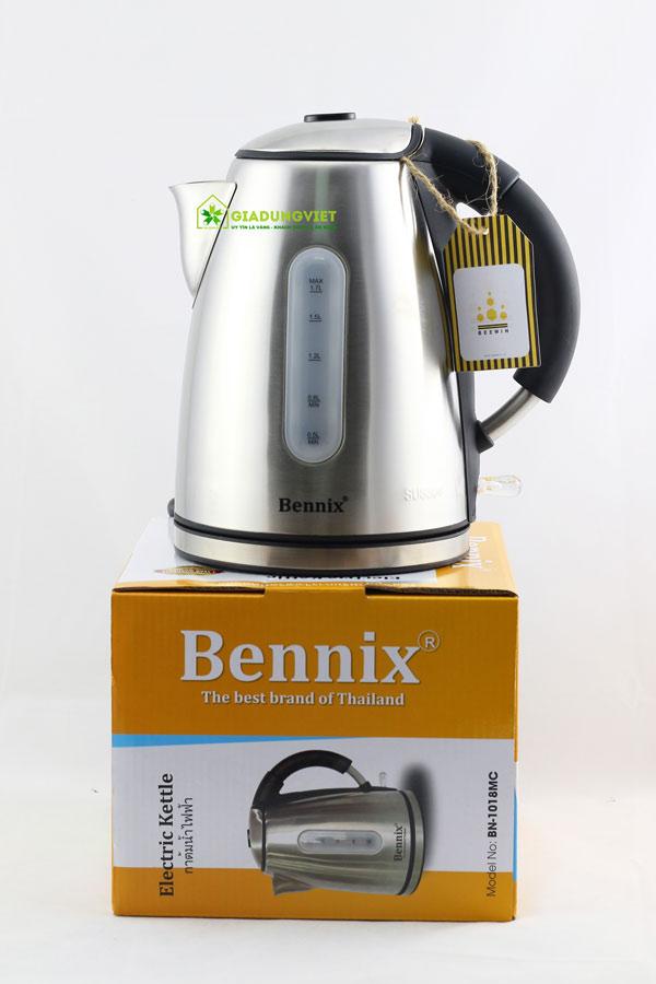 Ấm siêu tốc Bennix BN – 1018MC lòng inox