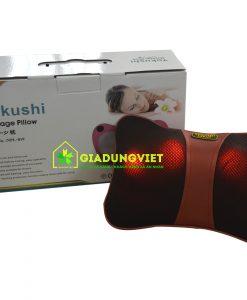 Thư giãn với gối massage cổ hồng ngoại Yokushi NPL 818